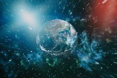 Free Earth In Outer Space, Galaxies And Planets . Elements Of This Image Furnished By NASA. Stock Images - 121545894