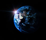 Earth In Universe Royalty Free Stock Photography