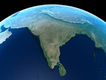 Earth - India. India as seen from space stock illustration