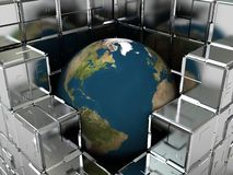 Earth in industry Stock Image