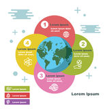 Earth infographic templates Royalty Free Stock Image