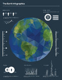 Earth infographic vector stock illustration
