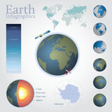 Earth infographics Stock Photo
