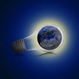 Earth inside the bulb Royalty Free Stock Image