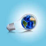 Earth inside the bulb Royalty Free Stock Photography