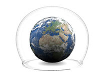 Earth inside glass bowl Stock Photography