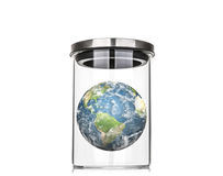 Earth inside a glass jar (Elements of this image furnished by NA Stock Photography