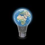 Earth inside lightbulb Royalty Free Stock Photography
