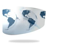 Earth interface on abstract screen Stock Photography