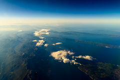 Earth Islands And Mediterranean Sea. At 10.000m Altitude Above Ground royalty free stock image