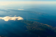 Earth Islands And Mediterranean Sea. At 10.000m Altitude Above Ground stock photos