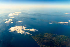 Earth Islands And Mediterranean Sea. At 10.000m Altitude Above Ground royalty free stock images