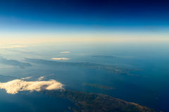 Earth Islands And Mediterranean Sea. At 10.000m Altitude Above Ground stock photography