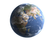 Earth isolate on white background  Stock Images