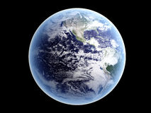 Earth - Isolated on Black Stock Photography