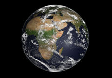 Earth. Isolated in deep black Royalty Free Stock Images