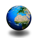Earth isolated in white background Royalty Free Stock Photos