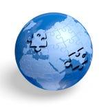 Earth jigsaw puzzle Stock Photos