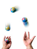 Earth juggler Royalty Free Stock Image