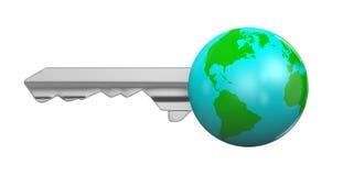 Earth Key Isolated vector illustration