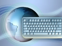 Earth and keyboard vector illustration