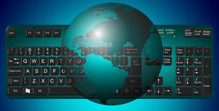 Earth and keyboard Stock Images