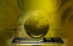 Earth and keyboard Royalty Free Stock Photography