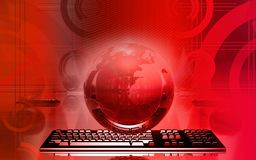 Earth and keyboard Royalty Free Stock Images