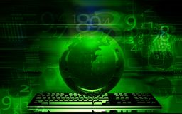 Earth and keyboard Stock Photos