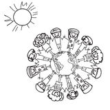 Earth  Kids Doodle Royalty Free Stock Images