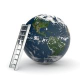 Earth and ladder Stock Photo