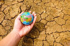 The earth is laid on dry soil. royalty free stock images