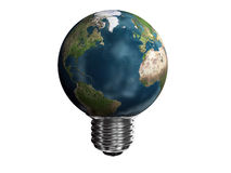 Earth-lamp. The conceptual image of a planet Earth in the form of a lamp Royalty Free Stock Photography