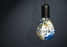 Earth lamp,  innovation Energy Save Concept with copy space Royalty Free Stock Photography