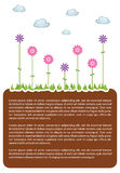 Earth land template royalty free illustration