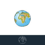 Earth Layered Illustration Royalty Free Stock Images
