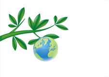 earth and leaves vector illustration