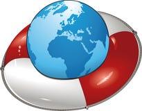 Earth lifesaver Stock Photography