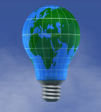 Earth Light bulb Stock Photography