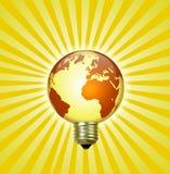 Earth lightbulb. The Earth in the shape of a lightbulb Stock Photography