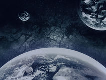 Earth-like Exoplanet. With Atmosphere - Abstract Illustration Royalty Free Stock Image