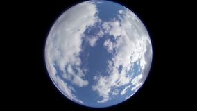 Earth like Fisheye daytime clouds timelapse stock video