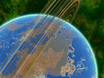 Earth-like planet Stock Photography