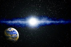 Earth-like Planet. In an imaginary planetary system Stock Photography