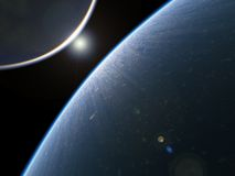 Earth-like planet from space royalty free illustration