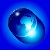 Earth like water drop Stock Image