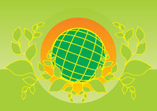 Earth logo Royalty Free Stock Photos