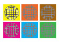 Earth logo design. Colorful logos looking like a globe royalty free illustration