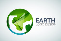 Earth logo design made of color pieces Stock Image