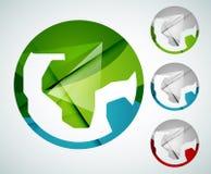 Earth logo design made of color pieces Royalty Free Stock Photos